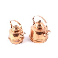 Early 1900's Dovetail Copper Designer Tea Kettles