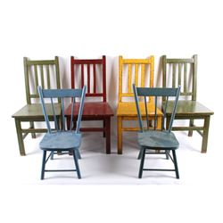 Chinese Import Hand Painted Decorative Chairs