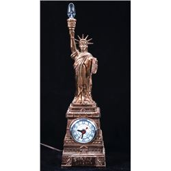 United Clock Corp. Copper Statue Of Liberty Clock