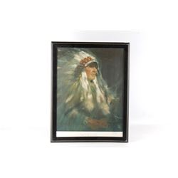 """Lolan, Donald """"Chief One Spot"""" Lithograph"""