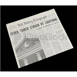"""Back to the Future Hill Valley """"Clock Tower"""" Newspaper"""