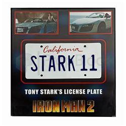 Iron Man 2 Framed Stark II License Plate