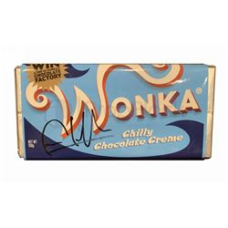 """Charlie & The Chocolate Factory Signed """"Chilly Chocolate"""" Bar"""