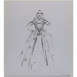 Alice Through the Looking Glass (2016) - Mirana (Anne Hathaway) Costume Design Print