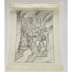 Batman & Robin (1997) - Mr. Freeze Hand-Drawn One Sheet Concept Artwork
