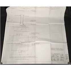 Batman Begins (2005) - Wayne Manor Well Production Blueprint