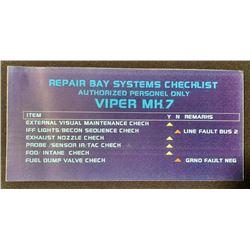 Battlestar Galactica (2004 - 2009) - Viper Repair Bay Console Screen Laminate - Lot A