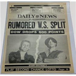 "Bill & Ted's Bogus Journey (1991) - Bill & Ted ""Rumored Wyld Stallyns Split"" Newspaper"
