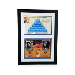 PSA Certified John Wooden and Bill Walton Pyramid of Success