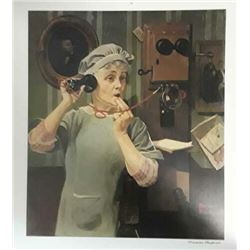 "Norman Rockwell ""Party Line"""