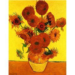 Van Gogh - Still Life Vase With Fifteen Sunflowers 3