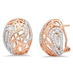 14k Gold 0.5CTW Diamond Earrings, (I1-I2/H-I)