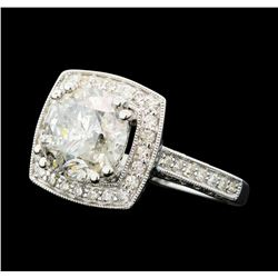 3.70 ctw Diamond Ring - 14KT White Gold