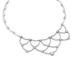 14k White Gold 4.55CTW Diamond Necklace, (I1-I2/H)