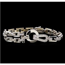 1.21 ctw Diamond Bracelet - 14KT White Gold