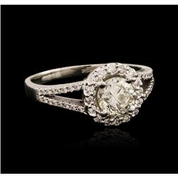 14KT White Gold 1.125 ctw Diamond Ring