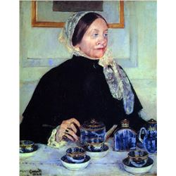 Mary Cassatt - Lady At The Tea Table 1883