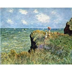 Claude Monet - Walk on the Cliffs