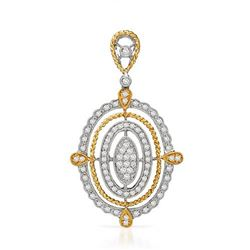 18k Two Tone Gold 0.66CTW Diamond Pendant, (SI1-SI2/G-H)
