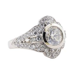 1.56 ctw Diamond Ring - Platinum