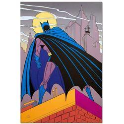 Batman Over Gotham by Bob Kane (1915-1998)