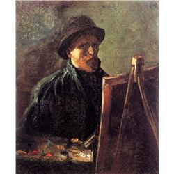 Van Gogh - Self-Portrait With Dark Felt Hat At The Easel