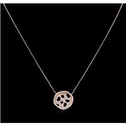 0.77 ctw Diamond Necklace - 14KT Rose Gold