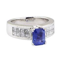 2.72 ctw Sapphire and Diamond Ring - Platinum