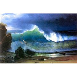 The Coast of the Turquoise Sea by Albert Bierstadt