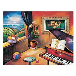 Piano with Countryside View by Nikulov, Oleg