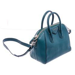 Givenchy Blue Grained Leather Mini Antigona Tote Bag