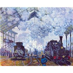 Claude Monet - Saint Lazare Station in Paris, Arrival of a Train