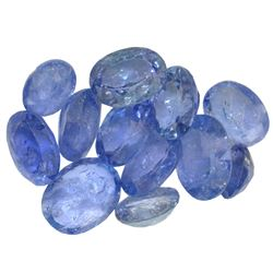 15.47 ctw Oval Mixed Tanzanite Parcel