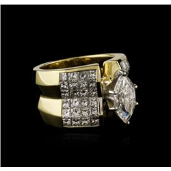 18KT Yellow Gold 4.83 ctw Diamond Ring