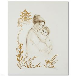 Lei Jeigiong and her Baby in the Garden of Yun-Tai by Hibel (1917-2014)