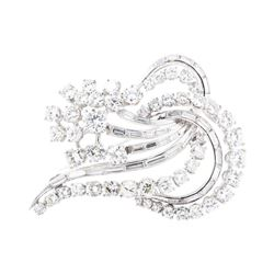 5.64 ctw Diamond Pin - 18KT White Gold
