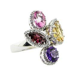 6.67 ctw Emerald Cut Diamond Ring - 14KT White Gold