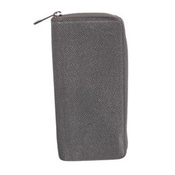 Louis Vuitton Gray Taiga Leather Vertical Zippy Wallet