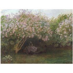 Claude Monet - Repos Sous Les Lilas 1872