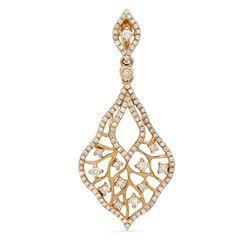 14k Rose Gold 0.64CTW Diamond Pendant, (I1/I)