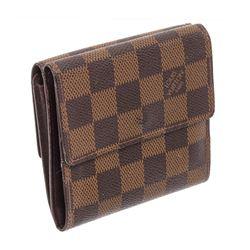 Louis Vuitton Damier Ebene Canvas Leather Elise Wallet