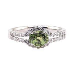 1.35 ctw Alexandrite and Diamond Ring - Platinum