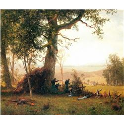 Small War, Postal Strick in Virginia by Albert Bierstadt