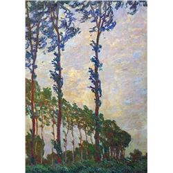 Claude Monet - Poplar Series, Wind