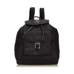 MCM Visetos Nylon Drawstring Backpack