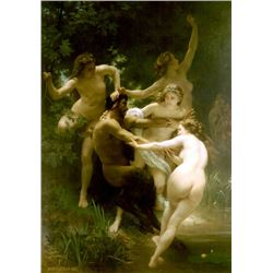 William Bouguereau - Nymphs and Satyr
