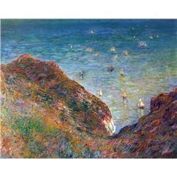 Claude Monet - On the Cliffs of Pour Ville, Fine Weather