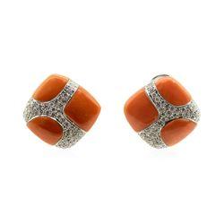 1.50 ctw Diamond Earring - 18KT White Gold