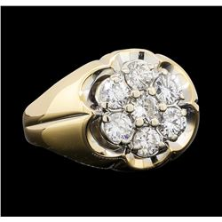 1.25 ctw Diamond Ring - 14KT Yellow and White Gold