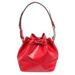Louis Vuitton Red Epi Leather Noe GM Drawstring Shoulder Bag